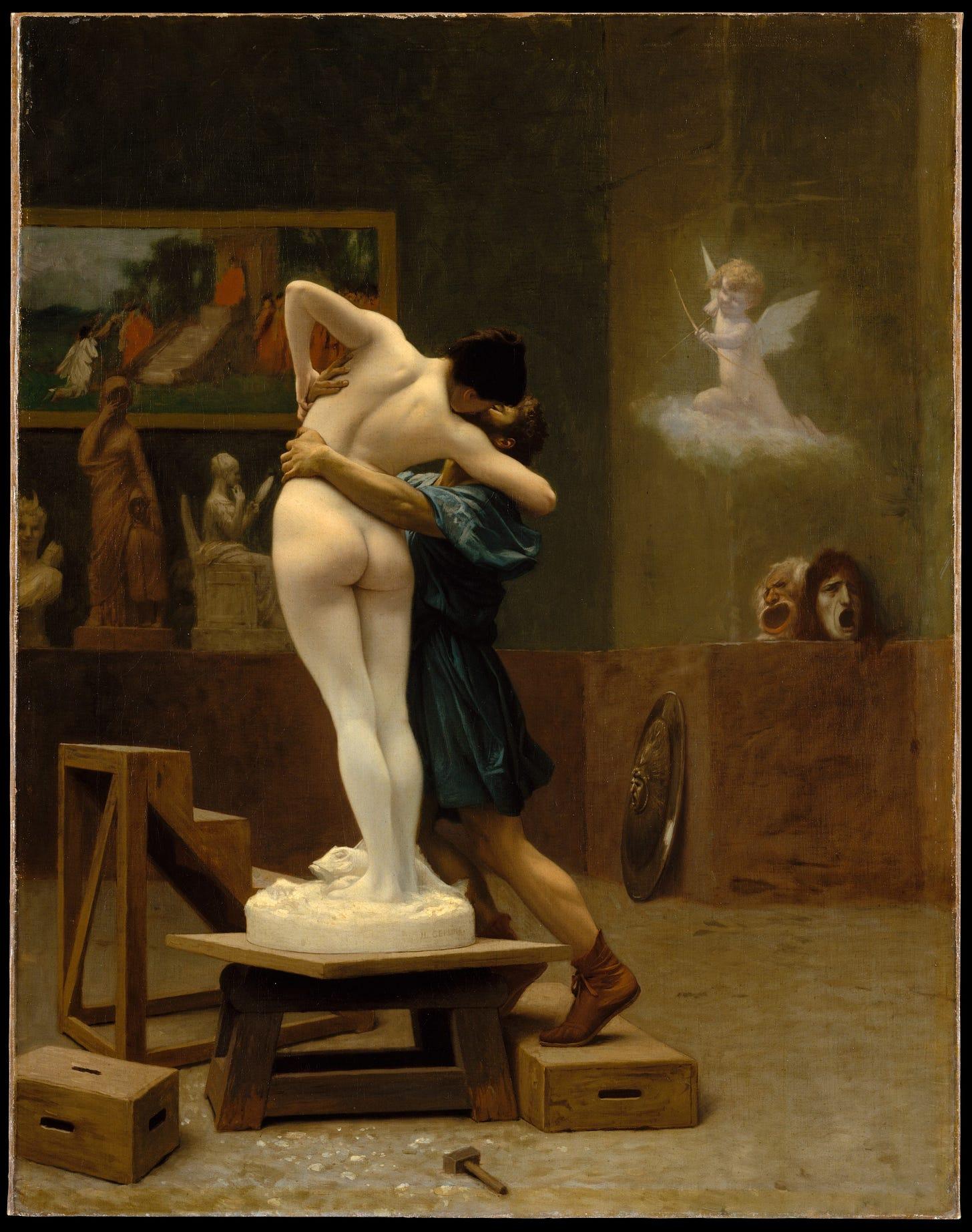 Pygmalion and Galatea (Gérôme painting) - Wikipedia