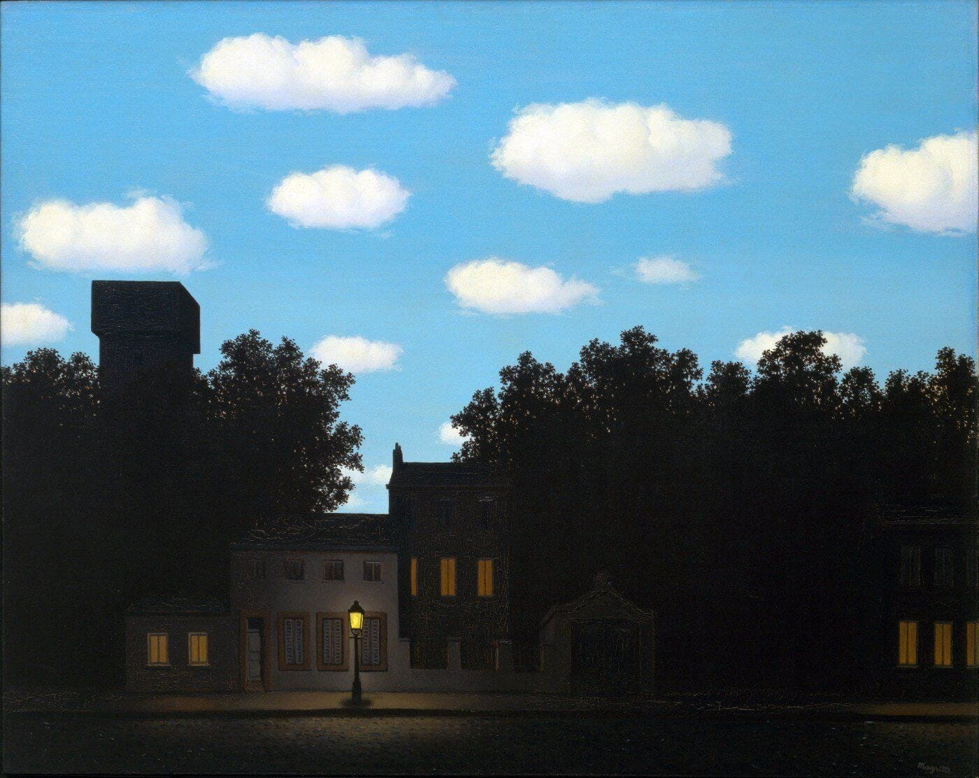 L'Empire des Lumieres (Empire of the Lights) - Version 2 | Magritte  paintings, Rene magritte, Magritte art