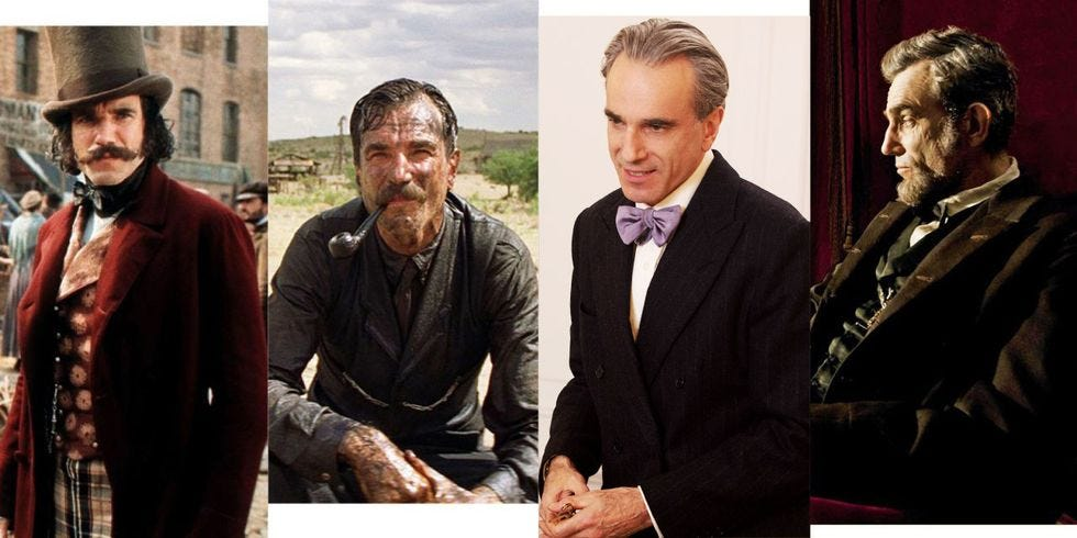 The different roles of Daniel-Day Lewis