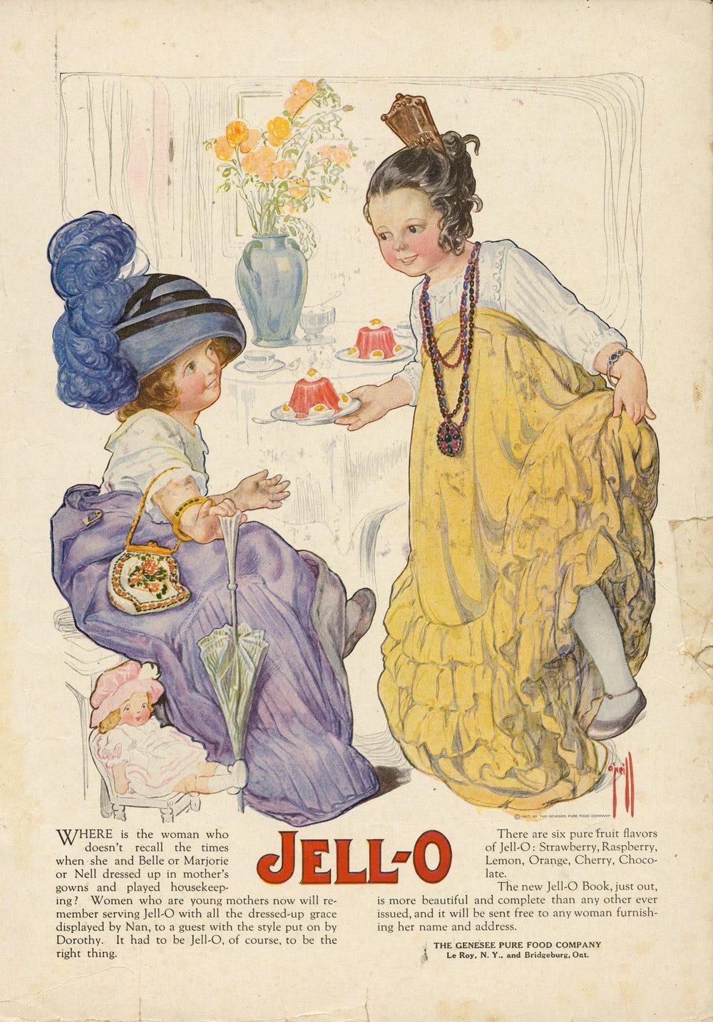 Rose O'Neill, Jell-O ad. 1920
