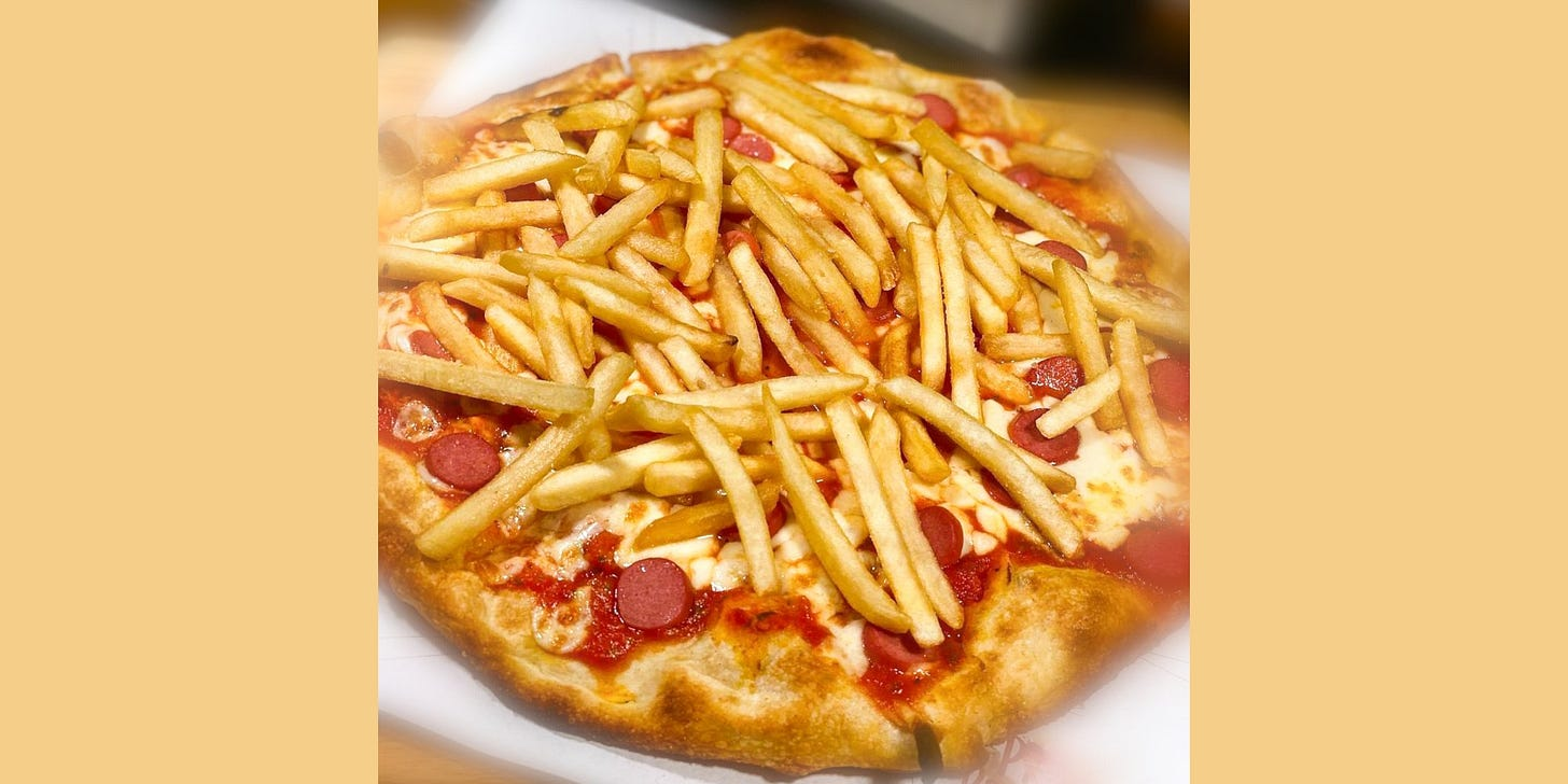Terrible french fry pizza