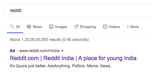r/indiadiscussion - Who is paying for randia advertisements on Google?