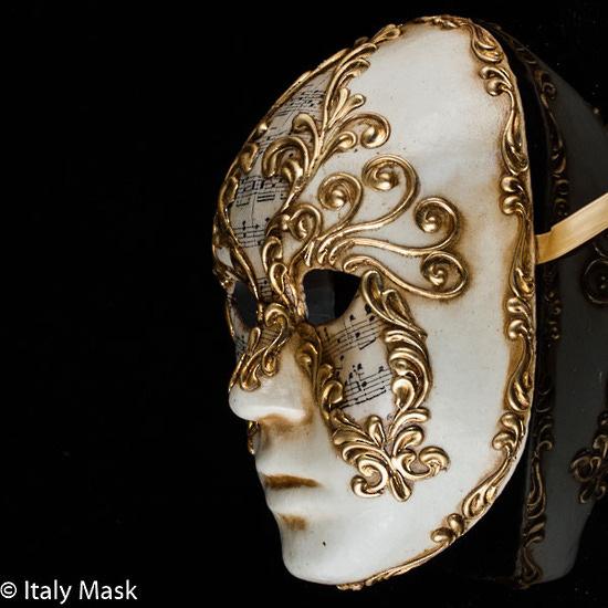 Volto Sinfonia Venetian Masquerade Mask