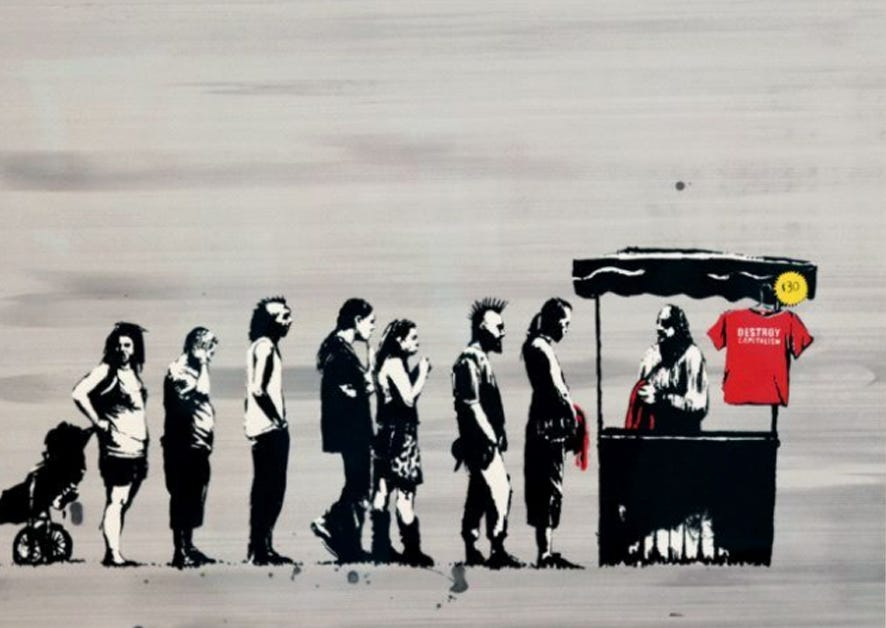 Festival (Destroy Capitalism) by Banksy for Sale | Guy Hepner NYC