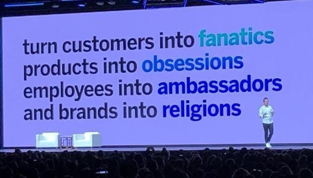 r/LateStageCapitalism - turn customers into fanatics products into obsessions employees into ambassadors and brands into religions