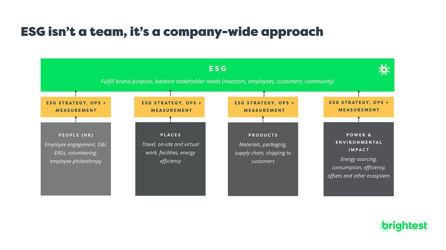 ESG Sustainability Org Chart