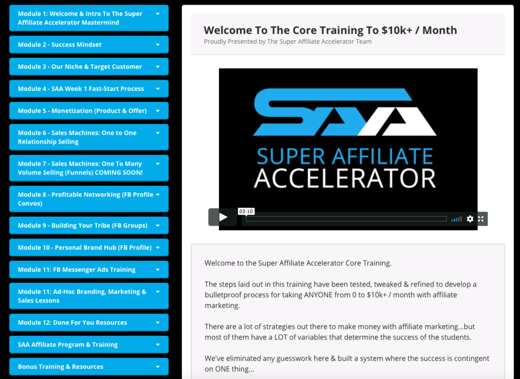 Unbiased Review – Super Affiliate Accelerator by Jacob Caris - Unemployed Influencer