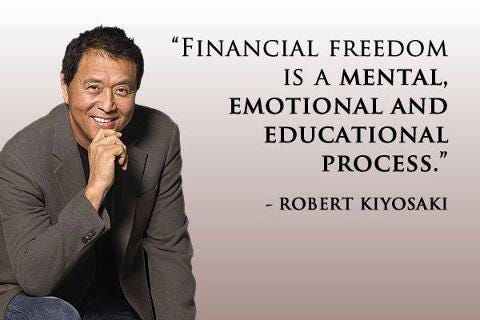 Financial freedom is a mental, emotional and educational process. – Robert  Kiyosaki - Mindset2Millions