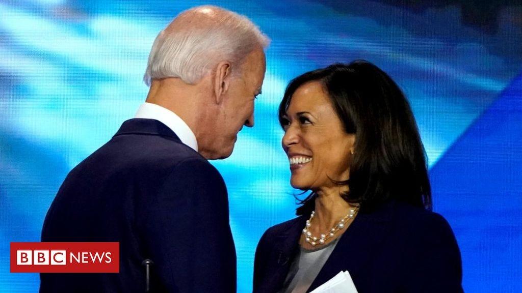 Kamala Harris endorses Joe Biden as Democratic presidential ...