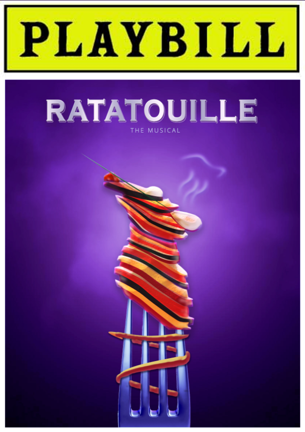 Artist Jesstive Siswick discovered that Tik Tok users have made an entire Ratatouille  musical and decided to make them a playbill : DesignPorn
