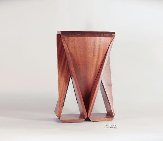 Solid Sapele Mahogany Loop Table #9