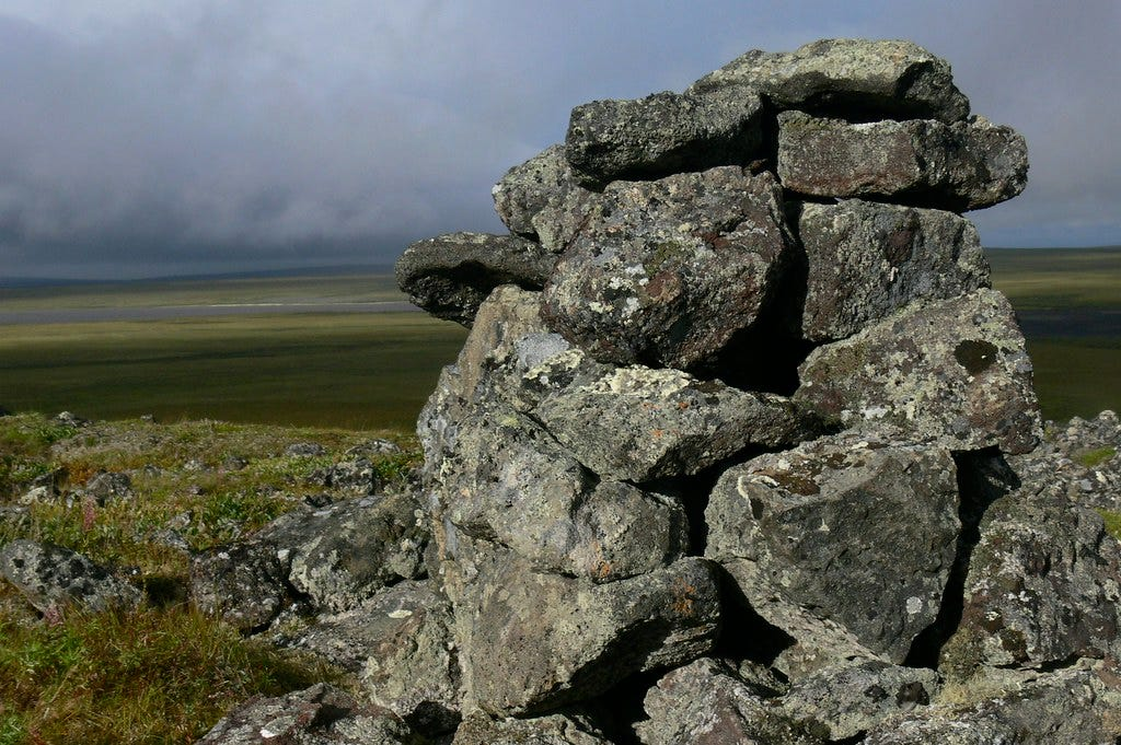 Cache in Bering Land Bridge | An ancient stone cache marks a… | Flickr