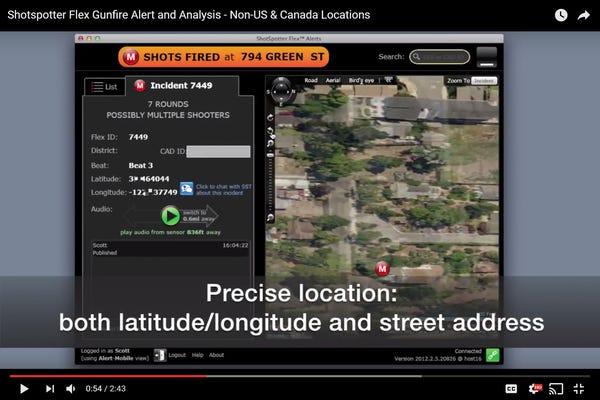 Video: Shotspotter Gunfire Alert and Analysis