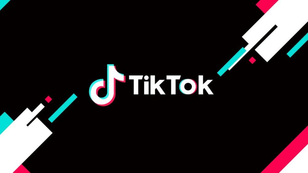 Imagem com o logo do TikTok