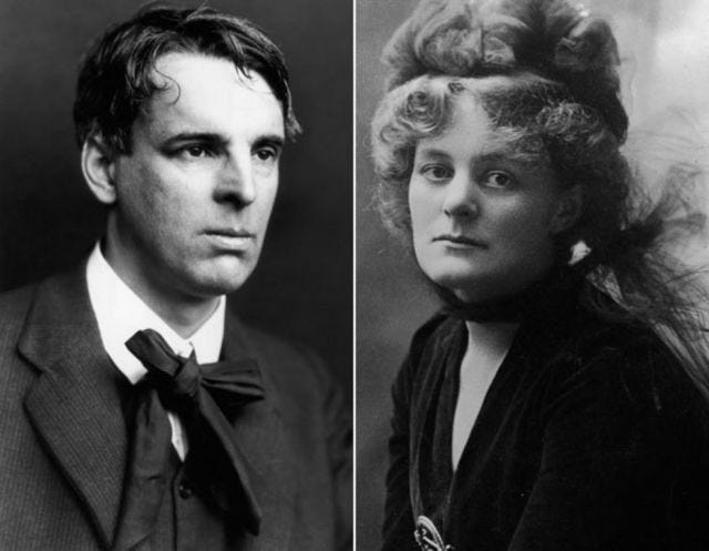 photograph of W.B. Yeats and Maud Gonne