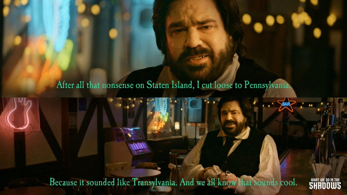 """What We Do In The Shadows on Twitter: """"Pennsylvania. Like Transylvania, but  not. #ShadowsFX #FXonHulu… """""""