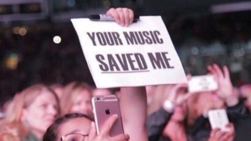 Image result for your music saved my life meme