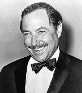 Photo of Tennessee Williams.