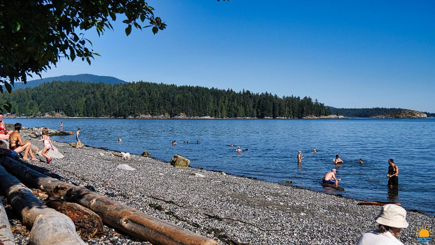 Franklin Beach in Gibsons, BC.