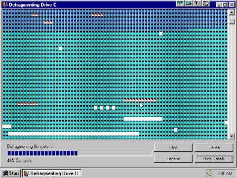 Windows 95 Defrag - YouTube