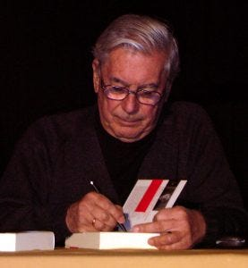Photo of Mario Vargas Llosa.