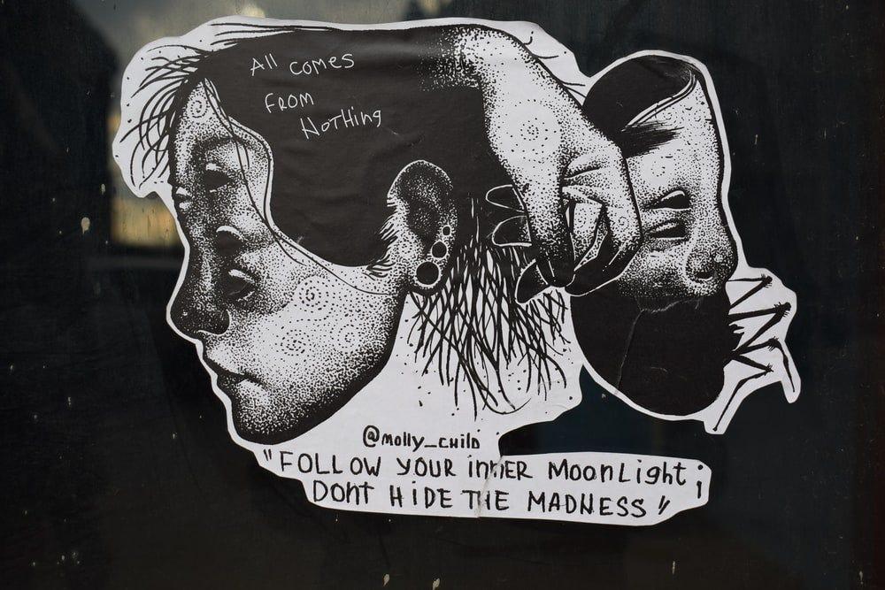 human head sticker