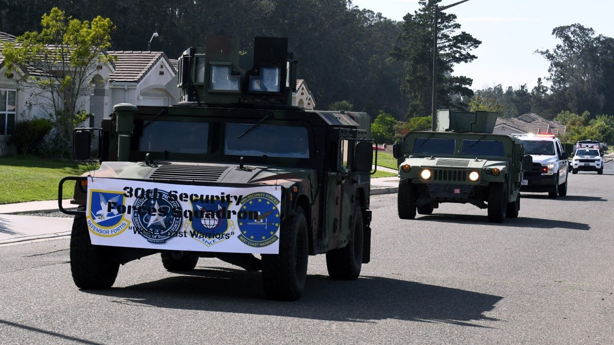 Vandenberg Air Force Base had a special socially distanced parade through base housing to celebrate the 73rd Birthday of the United States Air Force Sept. 18, 2020, at Vandenberg Air Force Base, Calif.