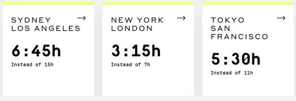 Boom 55 yolcu kapasiteli yeni jeti ile ulaşım sürelerini yarıdan fazlaya indireceğini söylüyor.
