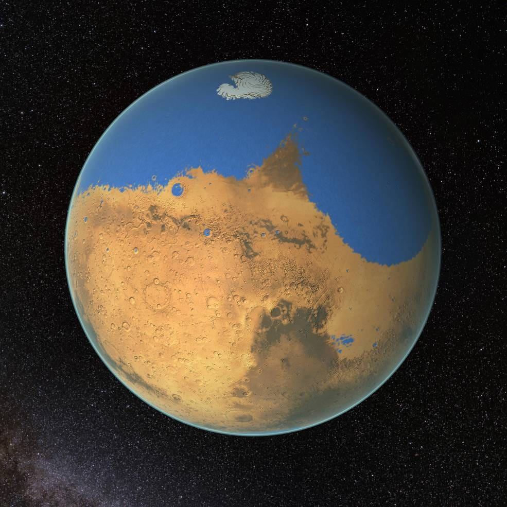 Mars once held more water than Earth's Arctic Ocean