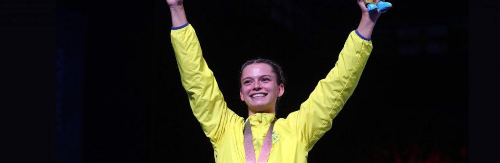 Skye Nicolson won gold at the 2018 Commonwealth Games. Sourced: Gold Coast 2018 Commonwealth Games