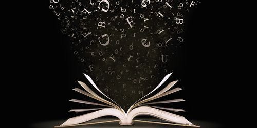 book with letters coming out - Google Search | Good books, Dark  backgrounds, Books