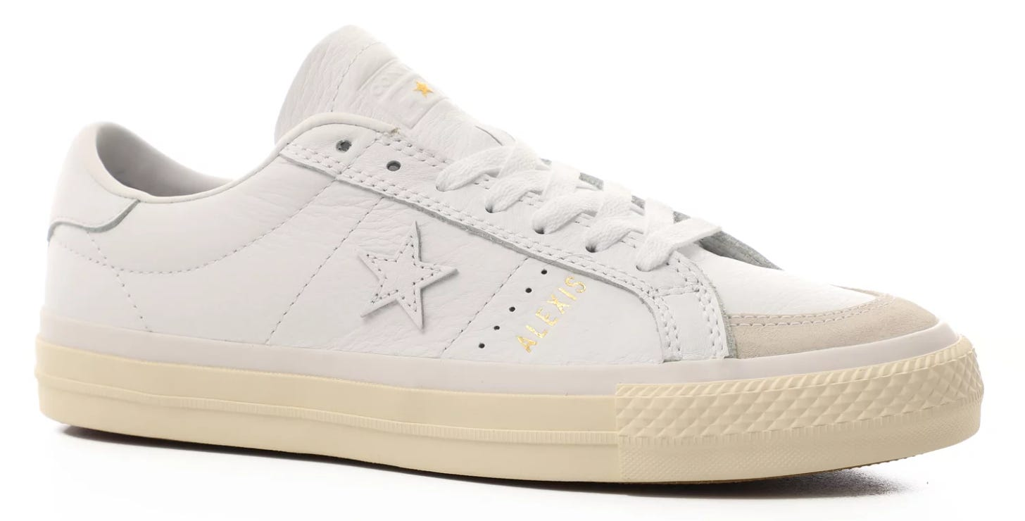 Converse One Star Pro Skate Shoes - (alexis sablone) white/enamelred/egret  - Free Shipping   Tactics