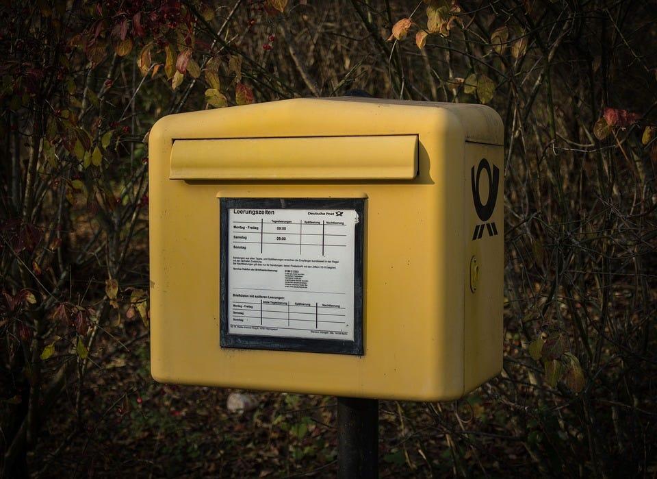 Briefkasten, Deutschland, Post, Nostalgie