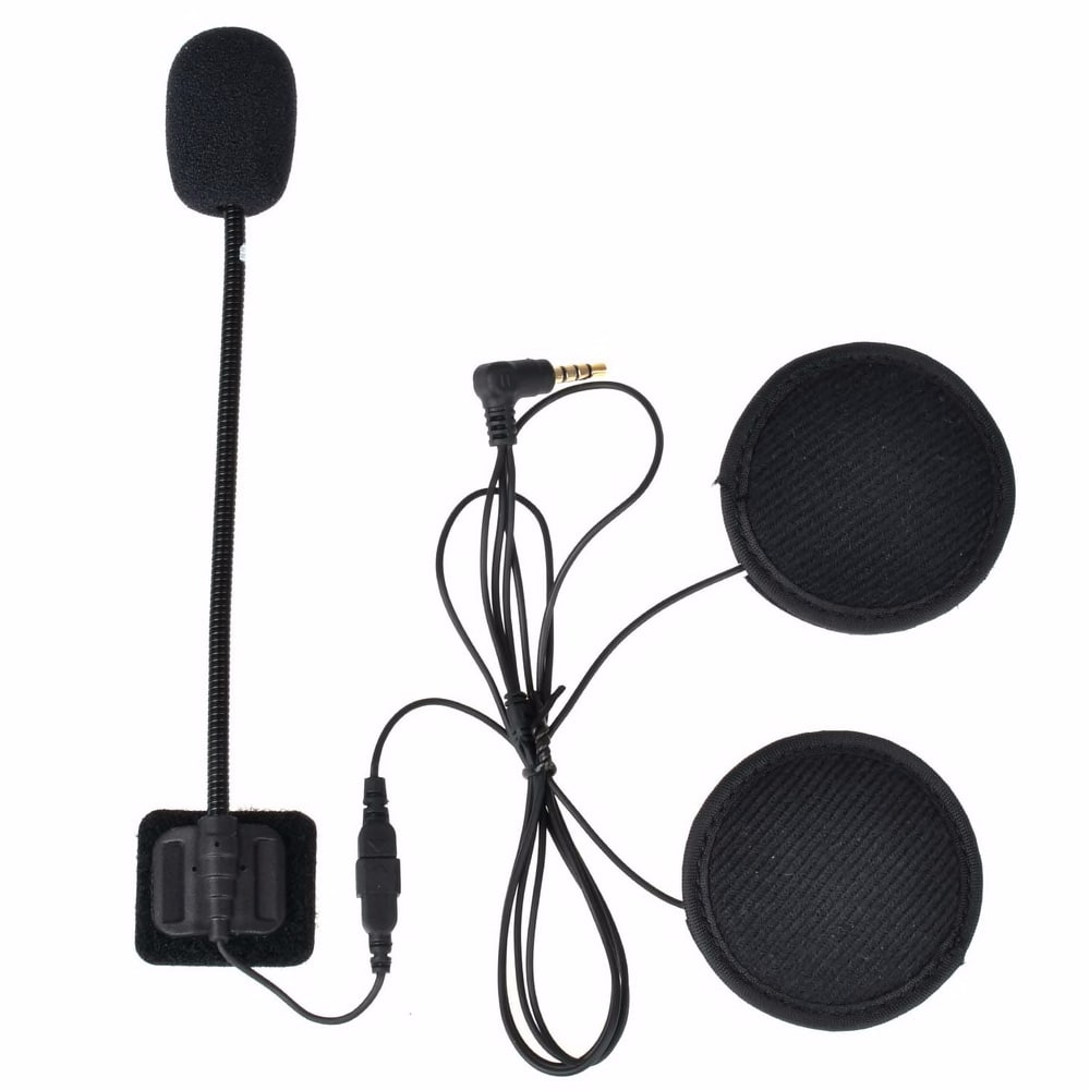 V6 V4 Intercom Accessories 3.5mm Jack Plug Earphone Stereo Suit for V6 V4 Bluetooth Intercom Motorcycle with Hard Or Soft Mic