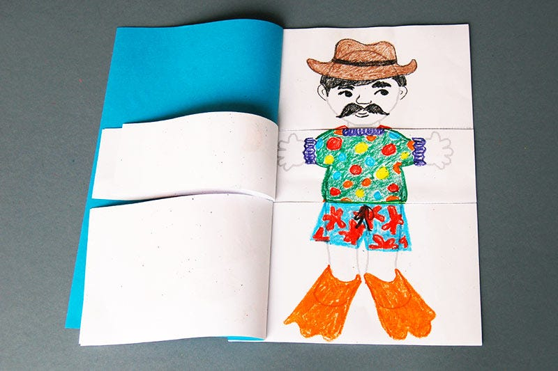 Body Flipbook | Kids' Crafts | Fun Craft Ideas | FirstPalette.com