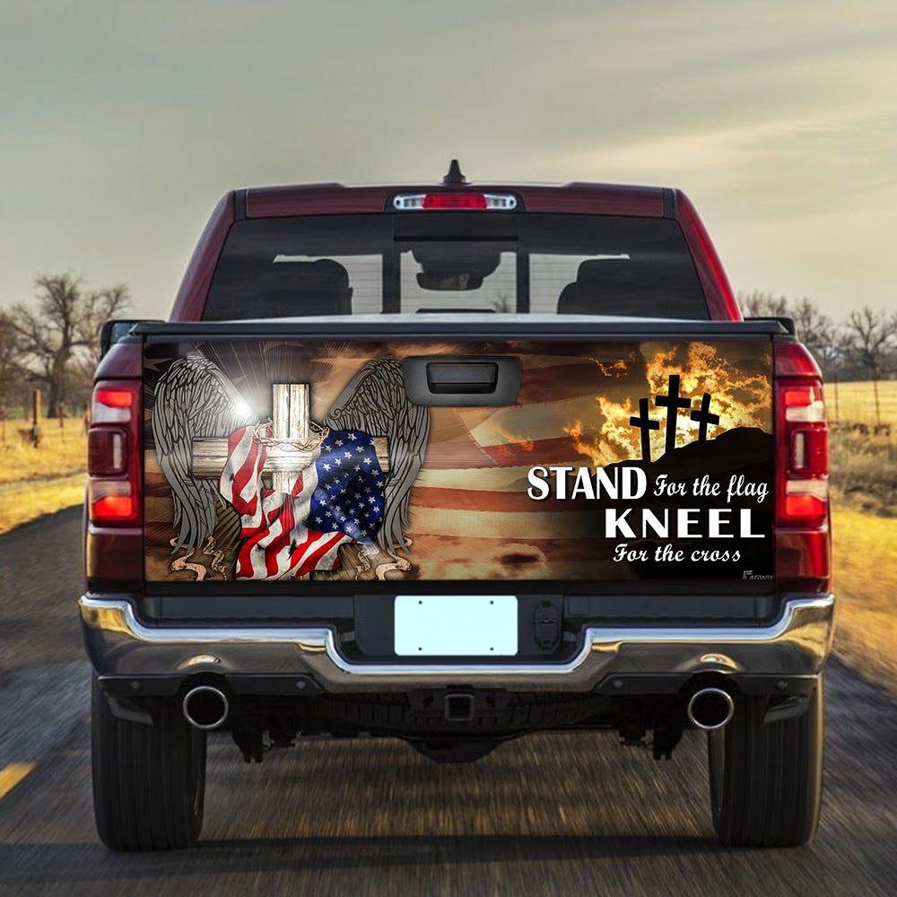 Patriotic Cross American Truck Tailgate Decal Sticker Wrap DBX1498TD –  Sense Gifts