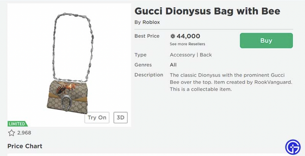 A Digital-Only Gucci Bag Sold for $4,115 on Roblox, as Brands Continue to  Look to Gaming to Reach Gen-Z | The Fashion Law