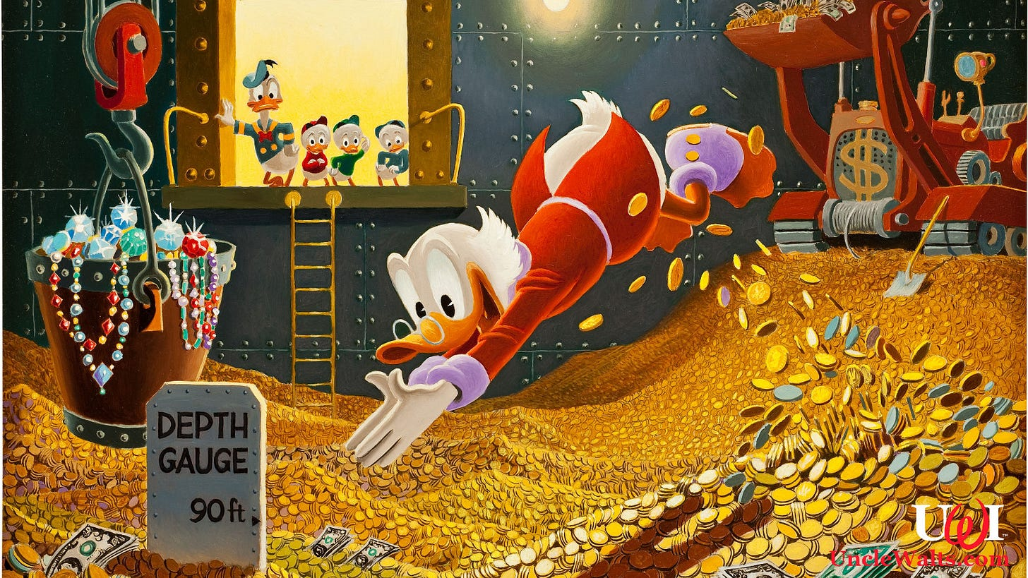 Scrooge McDuck refusing to release tax returns |