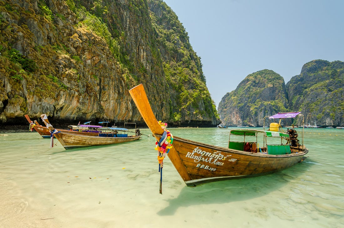 thai island boats, travel mentors