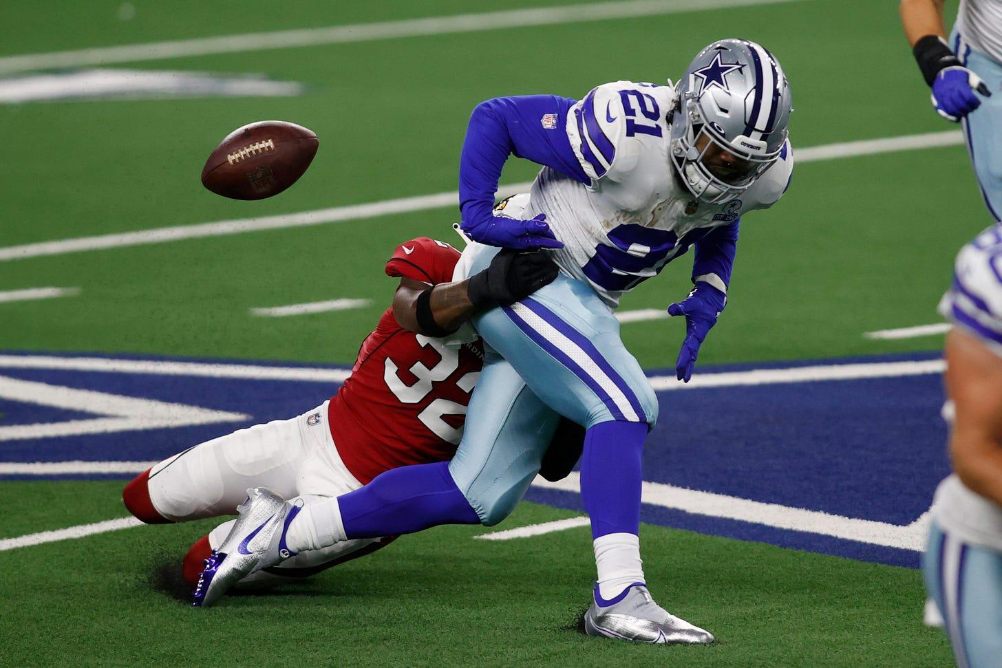 Dallas Cowboys: Ezekiel Elliott fumbles for words after loss to Cards