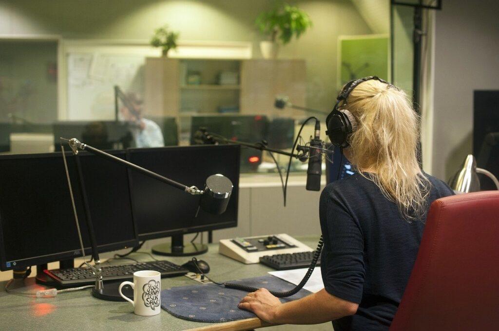radio, studio, audio
