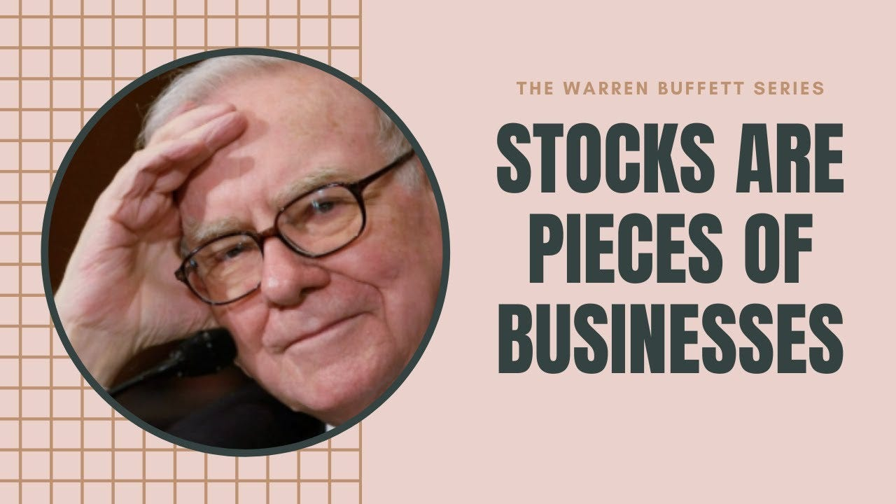 Stocks are pieces of businesses - Warren Buffett 2020 - YouTube