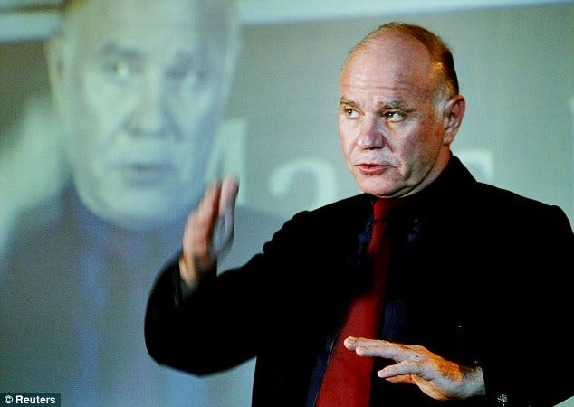 Dr Marc Faber claims another crash is months away | Daily Mail Online