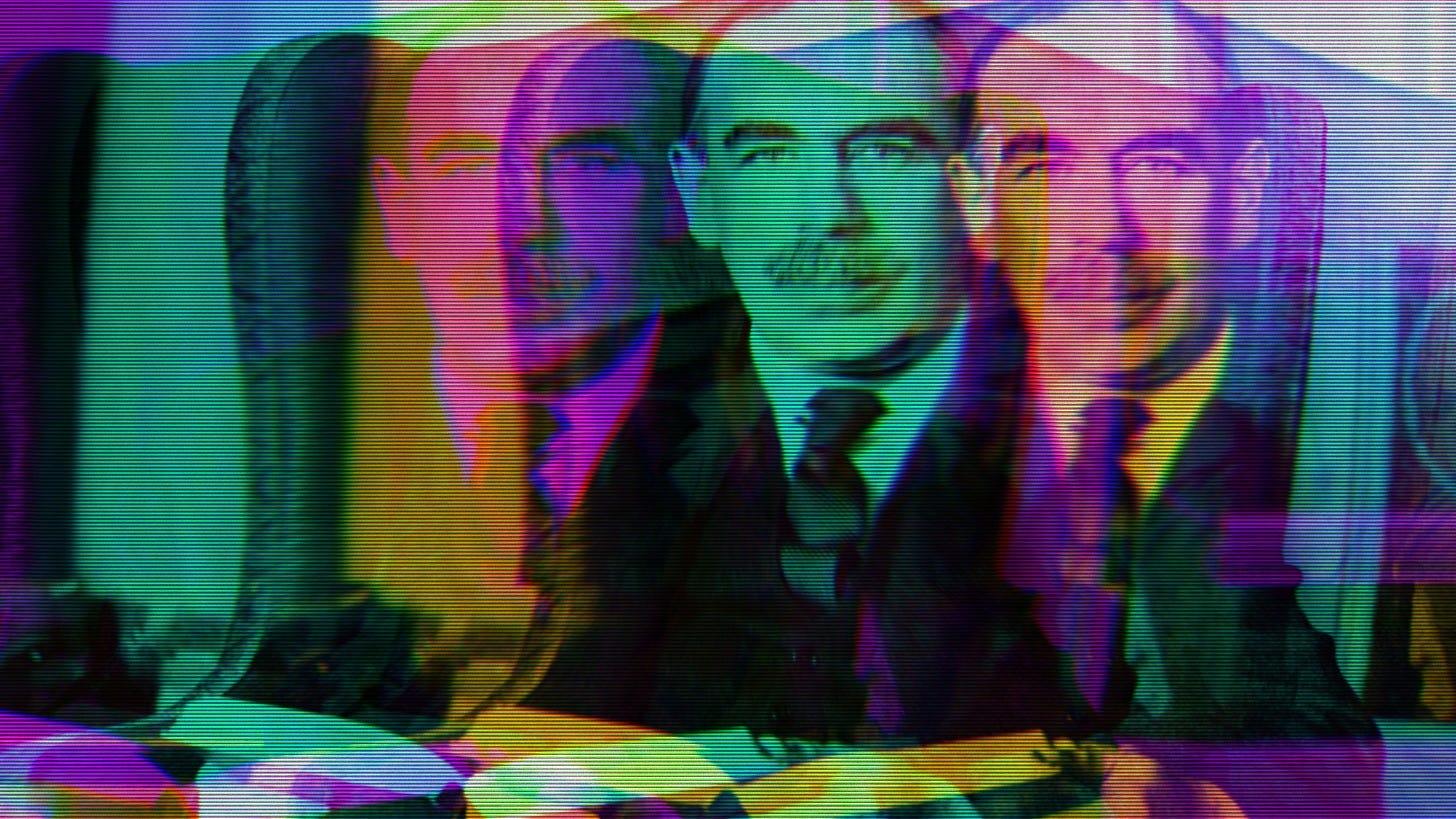 Rainbow photo of John Maynard Keynes