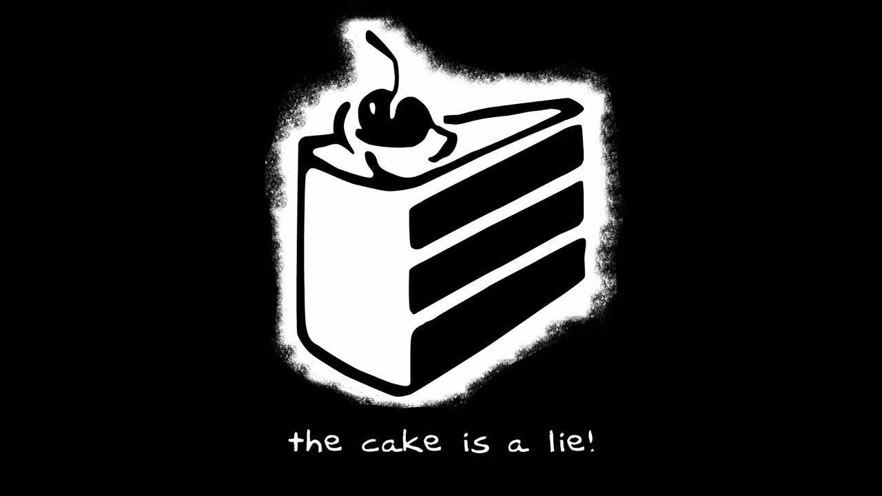 The Cake is a Lie - Gaming Meme History - YouTube