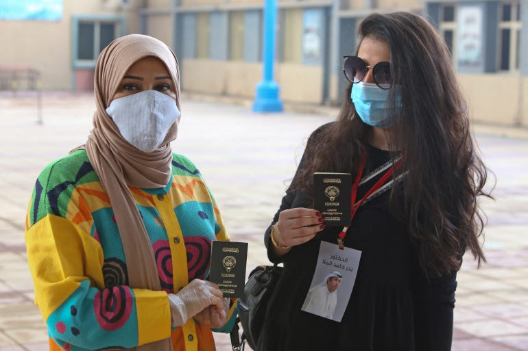 The brutal murder comes two months after Kuwaiti activists launched a nationwide campaign to end sexual harassment and violence against women [File: Yasser al-Zayyat/AFP]