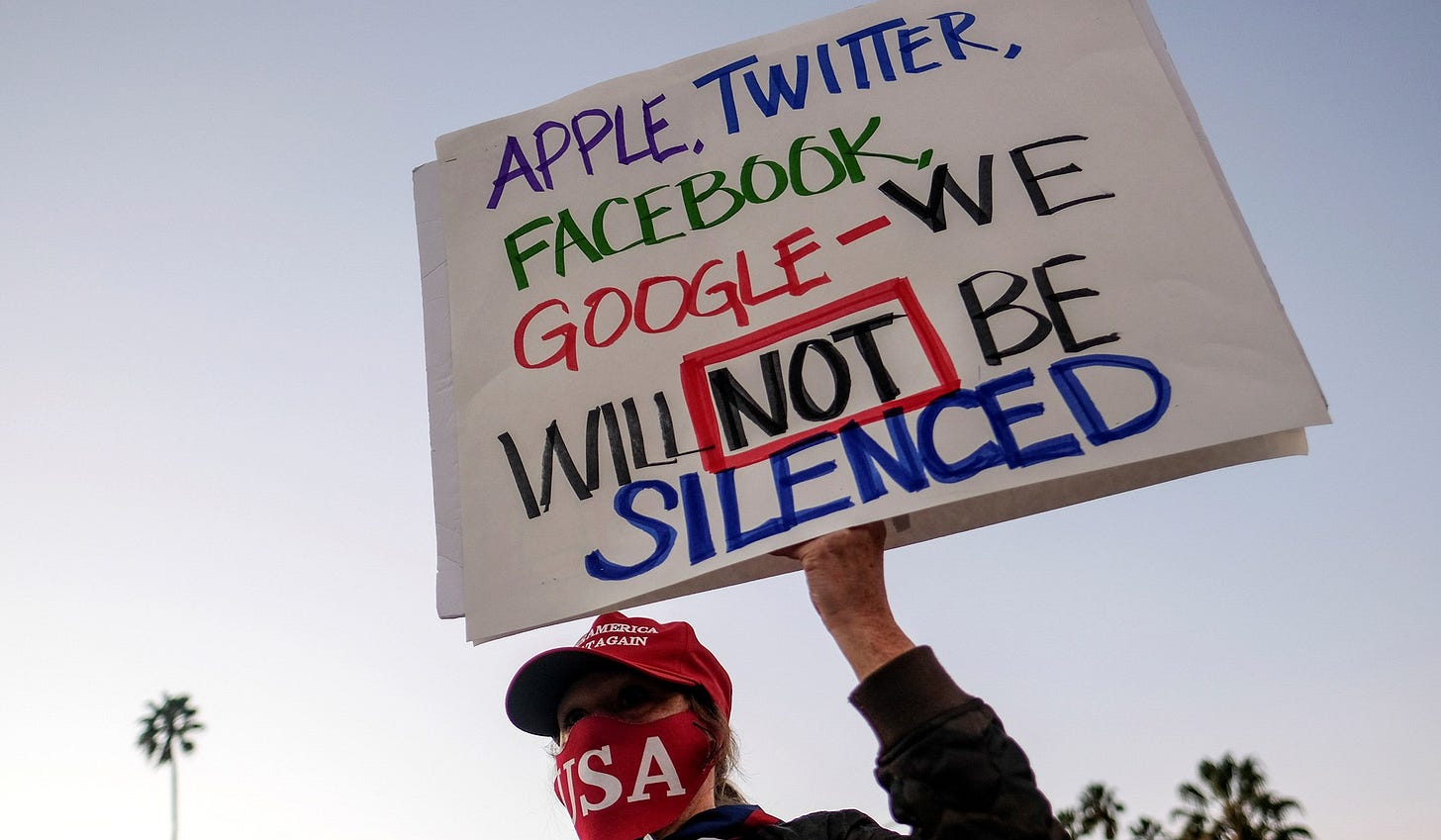 Apple, Twitter, Facebook, Google we will NOT be silenced