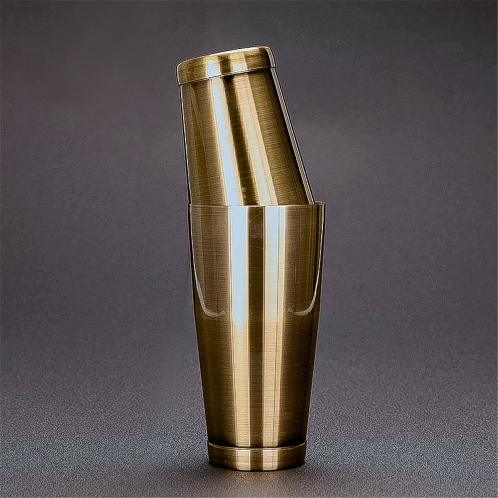 Stainless Steel Cocktail Boston Bar Shaker: 2-piece Set: 18oz Unweighted & 28oz Bar Tool