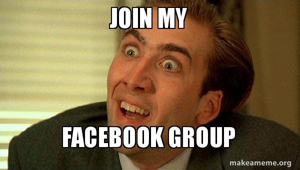 Join My Facebook group - Sarcastic Nicholas Cage | Make a Meme