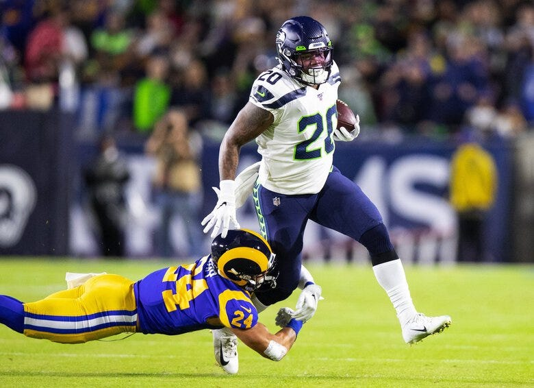 Seahawks' Rashaad Penny 'looks terrific' as his return from injury draws  closer | The Seattle Times
